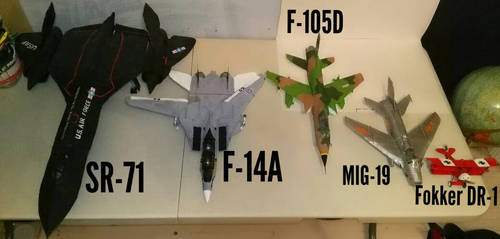 cardboard aircraft collection