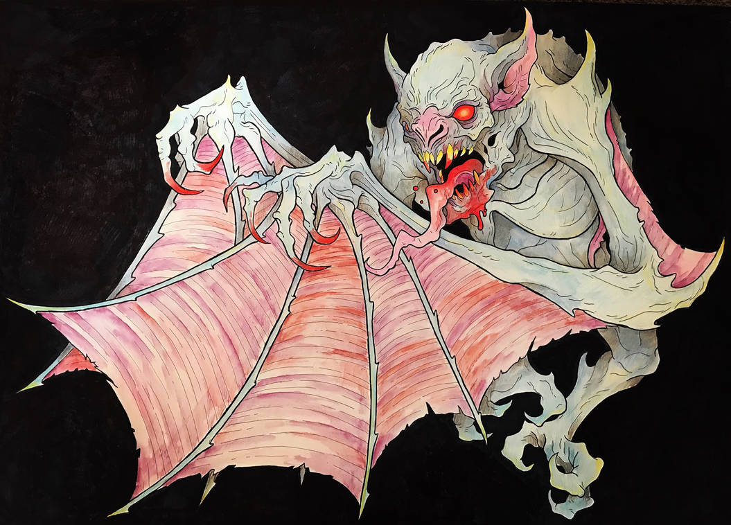 Demon Bat Finished By Robertgillett