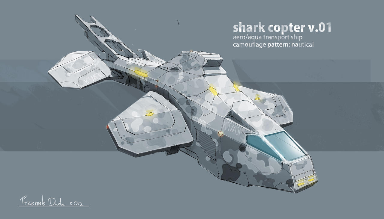 shark copter by przemek-duda