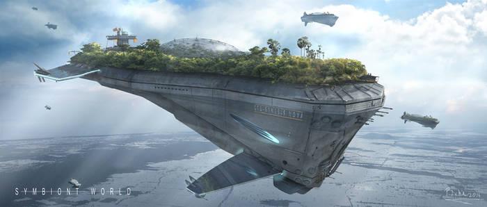 symbiont world - carrier class ship 'Genesis Nova'