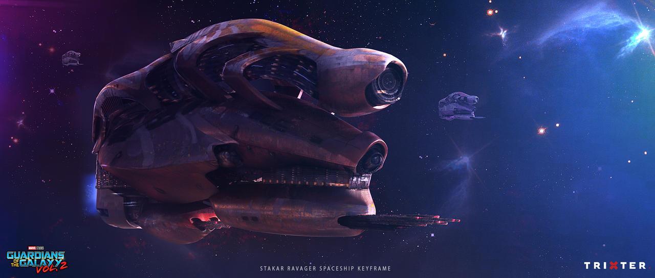 Guardians of the Galaxy 2 - Stakar Spaceship by przemek-duda
