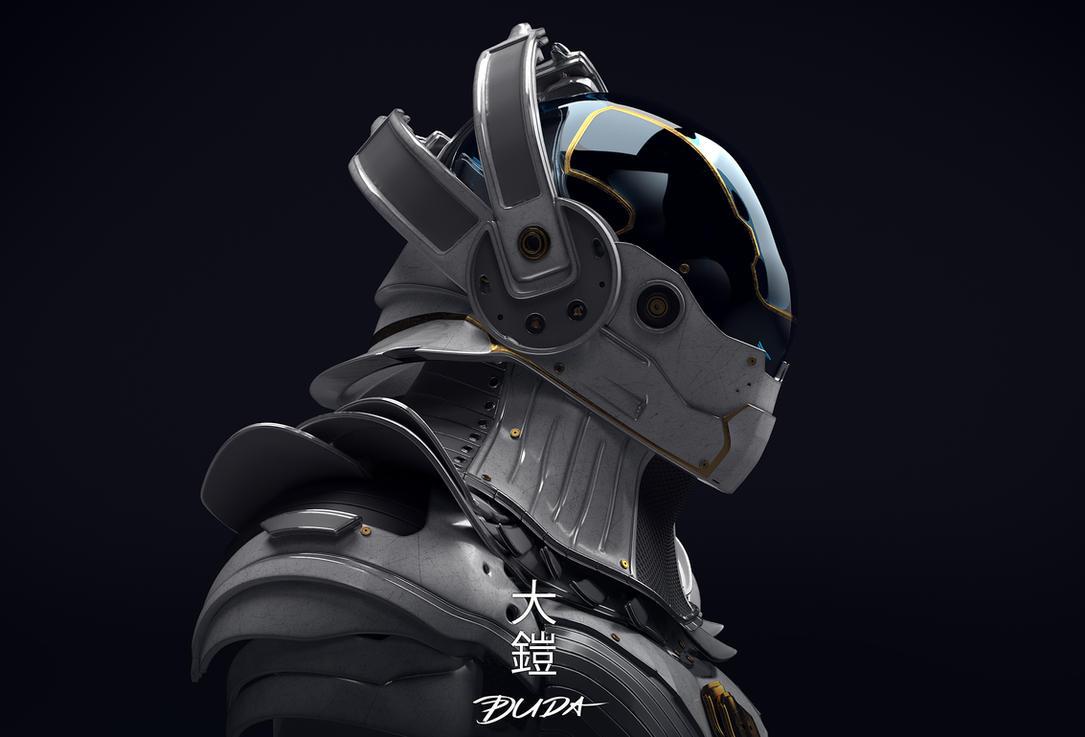 Future Tech Samurai Armor 01 By Przemek-duda On