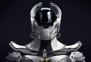 o-yoroi - Future Tech Samurai Armor 05 by przemek-duda