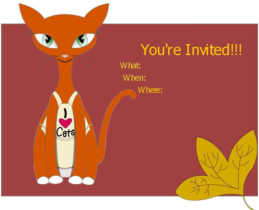 cat invitation template by bananafuu on deviantart. Black Bedroom Furniture Sets. Home Design Ideas