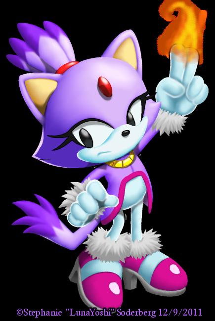 Sonic: Classic Blaze by LuLuLunaBuna