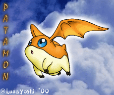 Old: Digimon: Patamon in flight by LuLuLunaBuna