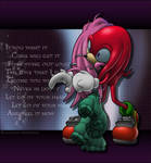 Sonic: Knux-- don't ever leave me again! by LuLuLunaBuna