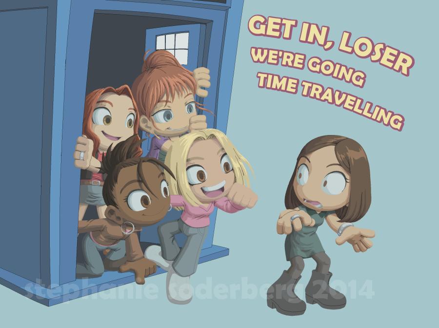 WIP: Doctor Who: Get in, loser. by LuLuLunaBuna