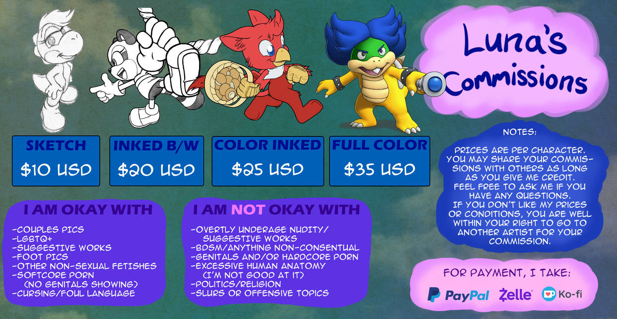 Commission Info: 2020 Edition