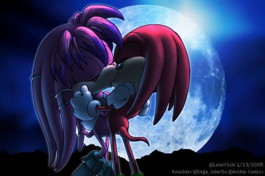 Sonic: Knux+Julie-Su et la lune bleu.