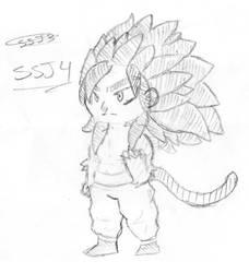 SSJ4 Goku by HamenArt