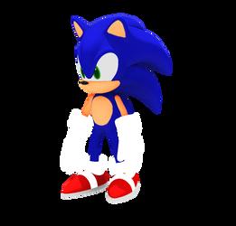 Sonic The Hedgehog 3D by HamenArt