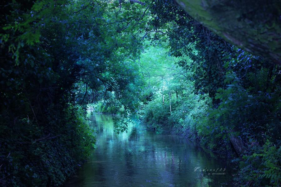 B l u e river by GiuliaDepoliART