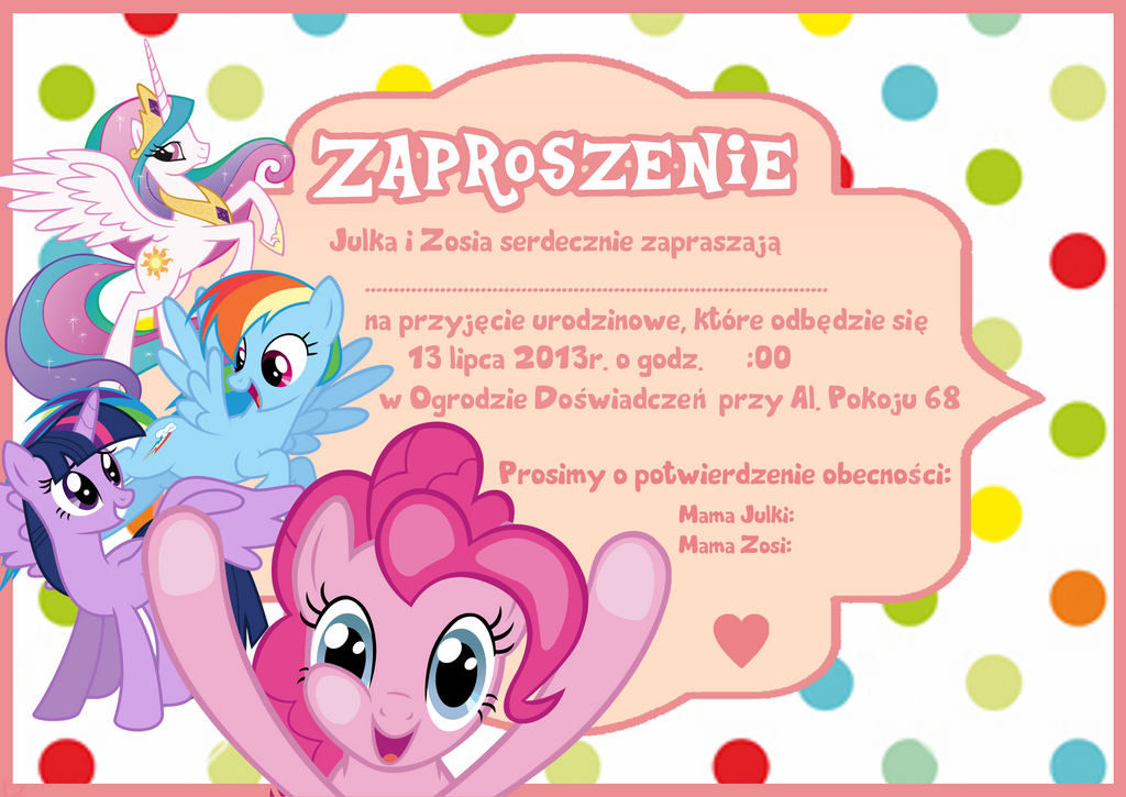 My Little Pony Party Invitation by Lucyzz on DeviantArt