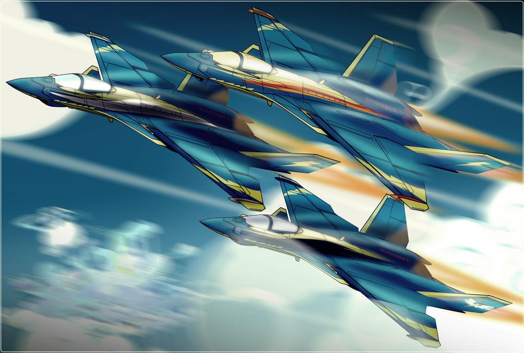 Cloudsdale Aerial Team by Ruhisu
