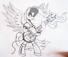 Rockin' Princess - sketch by Ruhisu