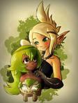 Collab: Best friends by Ruhisu
