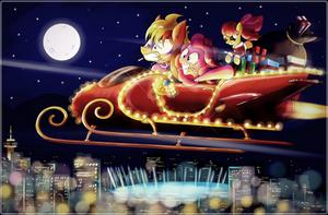 Sleigh Ride over Vanhoover by Ruhisu