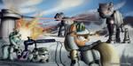 The battle of Hoth by Ruhisu
