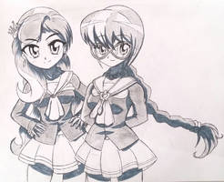 Humanized Diamond Tiara and Silver Spoon sketch by Ruhisu