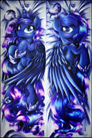 Princess Luna dakimakura design by Ruhisu
