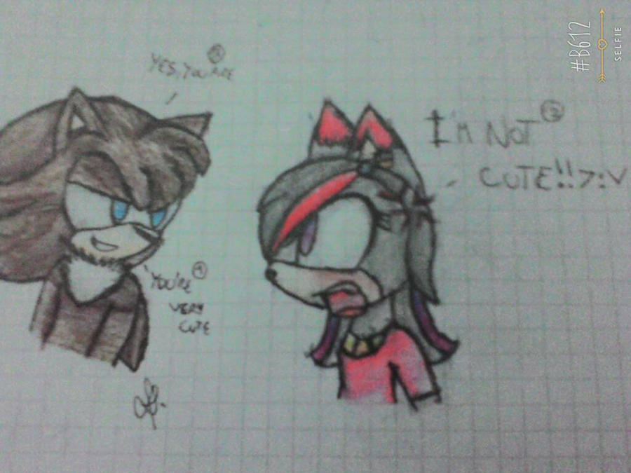 My friend and me -_- by Dixythefox