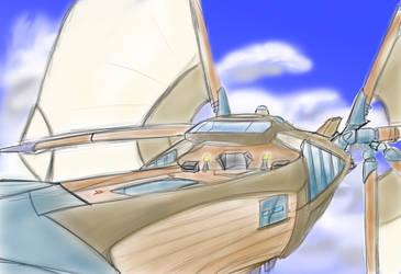 The Skyship Weatherlight by Raziel1000