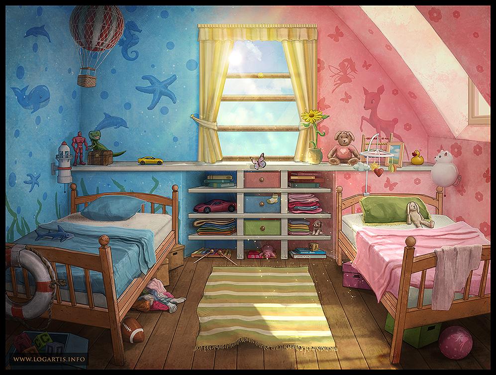 Children 39 s room 1 by logartis on deviantart - Children room ...