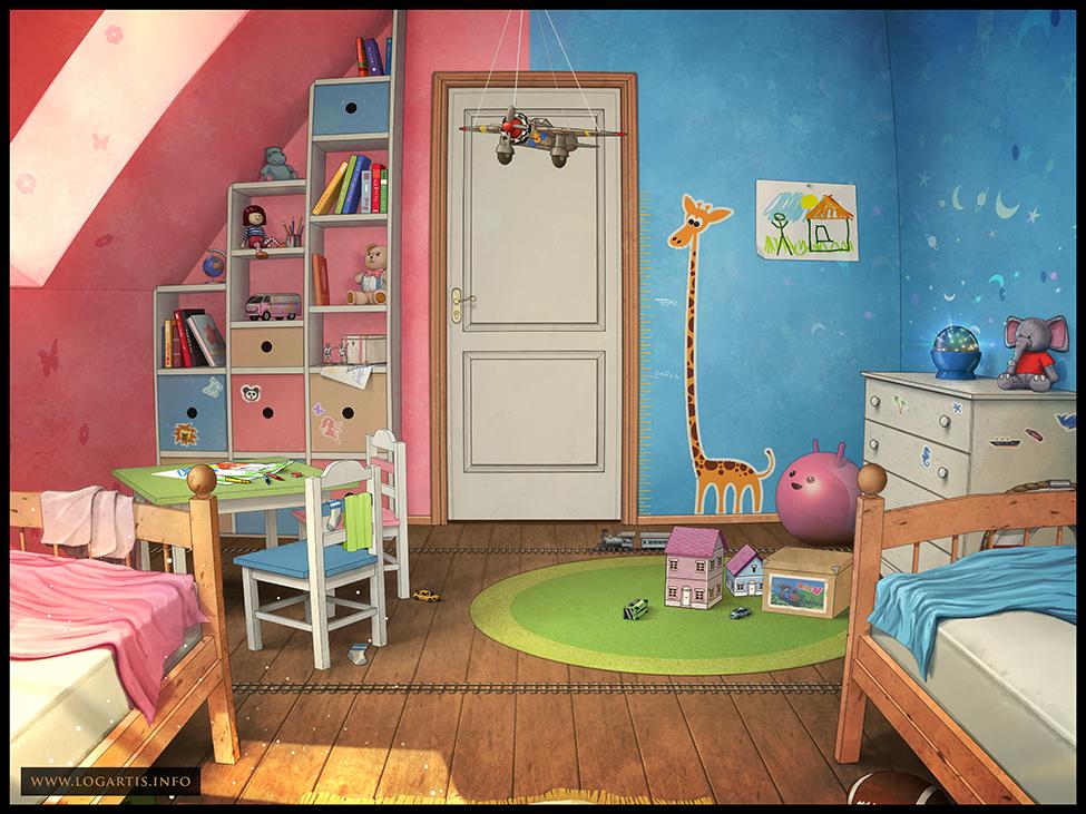 Children 39 s room 2 by logartis on deviantart for Artwork for kids bedrooms