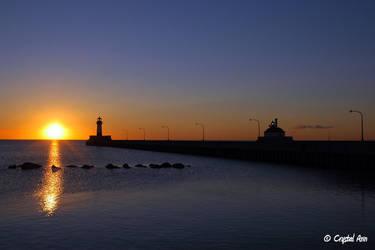 Lighthouse Sunrise 0253 by CrystalAnnPhotos