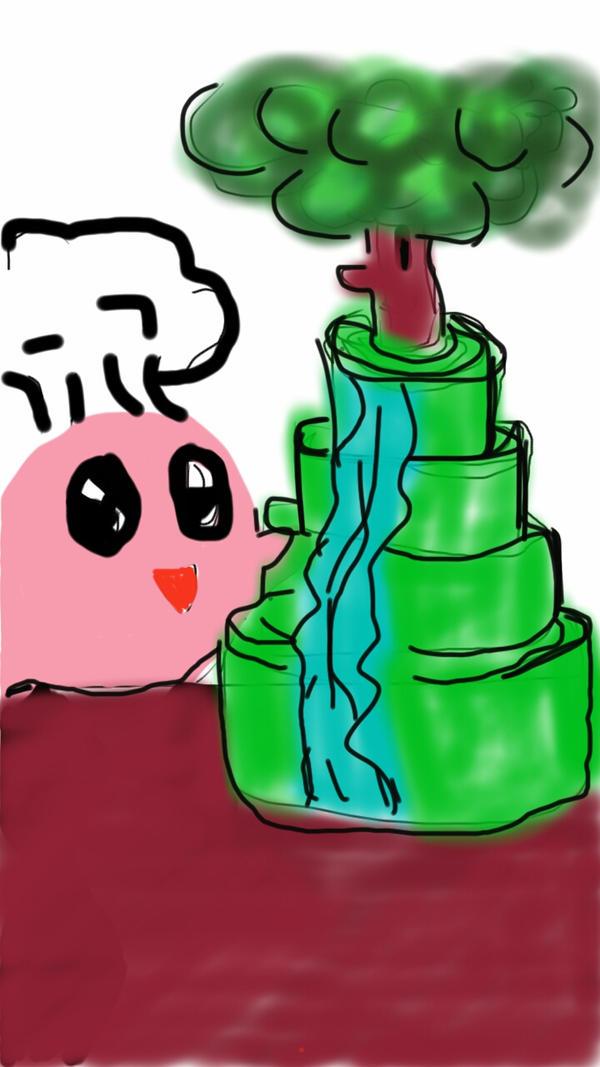 kirby and cake by krutiebabie