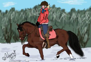 Newfoulandpony and rider