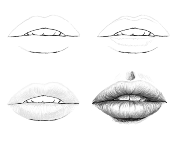 Sketch Tutorials: Lips (4 Steps) By Laiany On DeviantArt