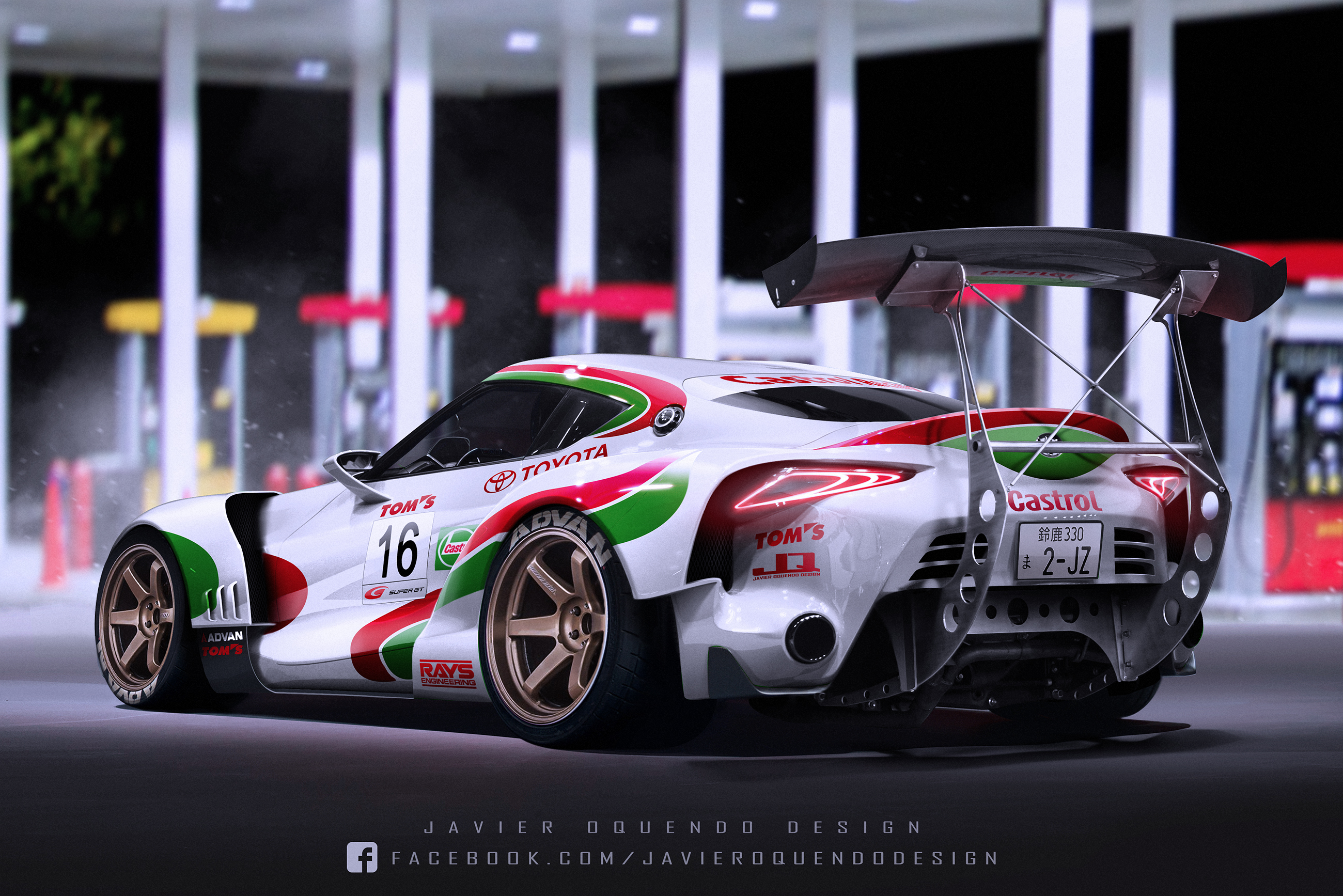 Toyota 86 Livery >> Tom's Castrol Toyota FT-1 Super GT by javieroquendodesign on DeviantArt