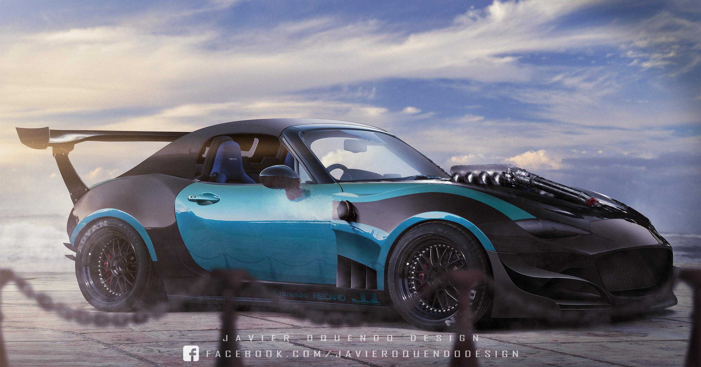 Miata with poppy art car livery isn t just for show autoevolution - Filename V8_turbo_miata_by_javieroquendodesign D9jv2i2 Jpg