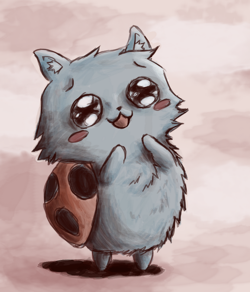 Fluffy Catbug~ by Scizzorhans