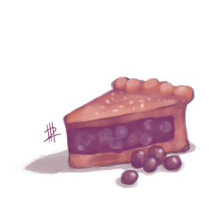 Cake with Berries by Kiorte