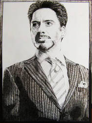 TonyStark in Dots and Lines by byLysi