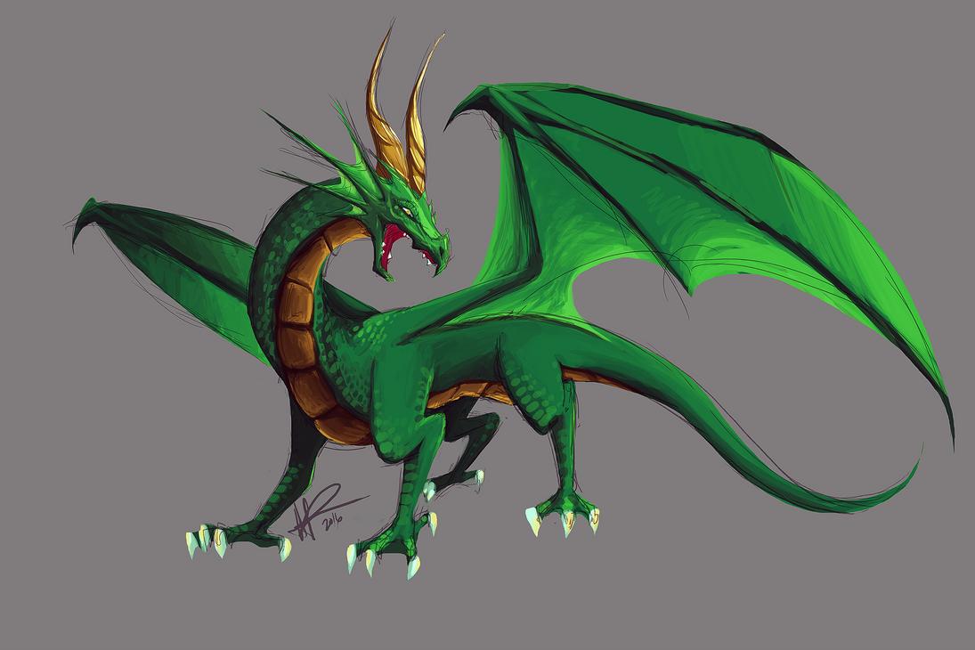 Green Dragon Remake 2016 by LiliumxRose