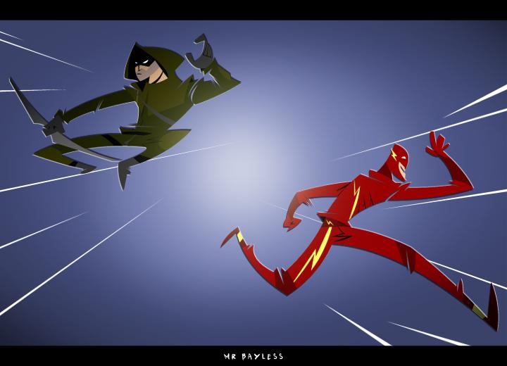 Flash V Arrow by Saiyanlink