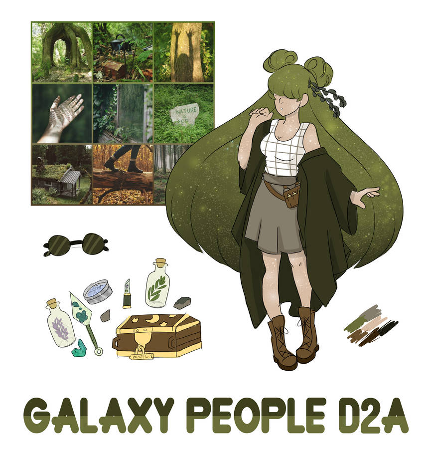 D2A Forrest Aesthetic Galaxy Person (OPEN)