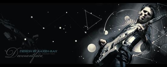 Playing the guitar_my design by RAXEN-RAX