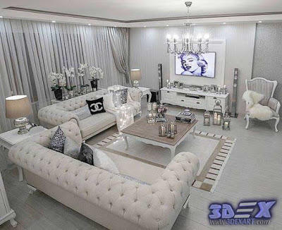 Modern-art-deco-living-room-decor-and-furniture by ...