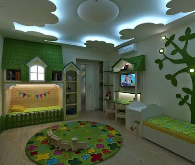 Delicieux POP False Ceiling Design For Kids Bedroom 2018 By ...