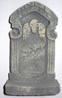 skull with wings tombstone by ghoulskout