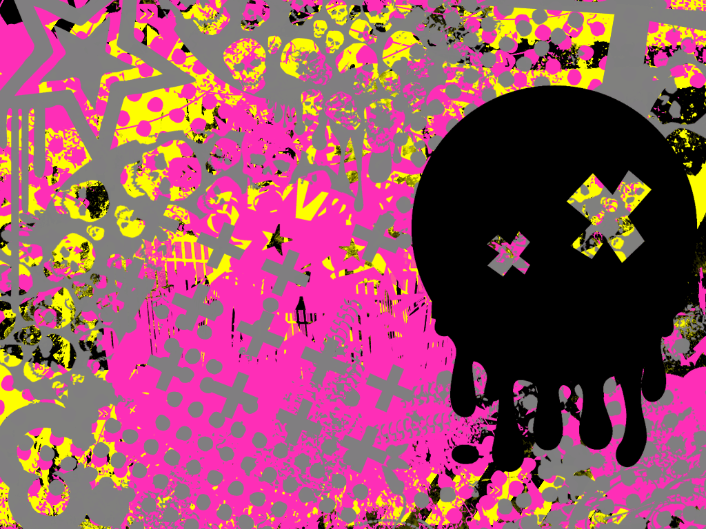 Pink And Yellow Wallpaper By Ghoulskout On Deviantart
