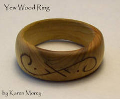 Yew Wood Ring by savagedryad