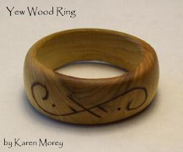 Yew Wood Ring by savagedryad