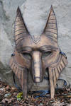 Ancient Bronze Anubus Mask