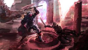Sicarian VS Titan by MarkWester